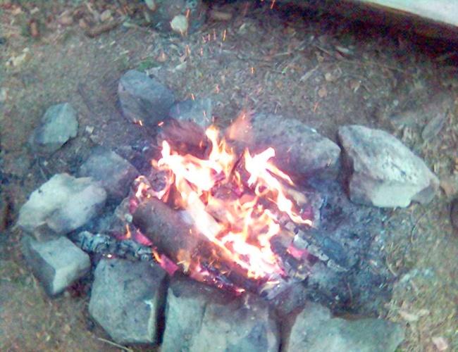 Похідна ватра вогнище розкладене в